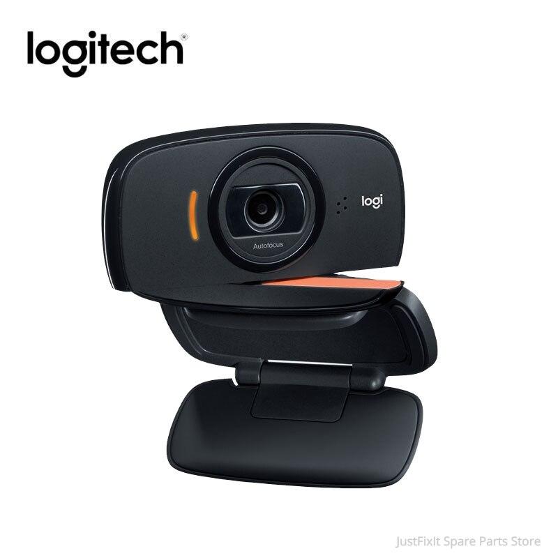 Original Logitech B525 HD Webcam 720P Portable 360 Rotating 8MP Video Auto Focus USB2.0 Webcam Calling Camera Upgrade C525