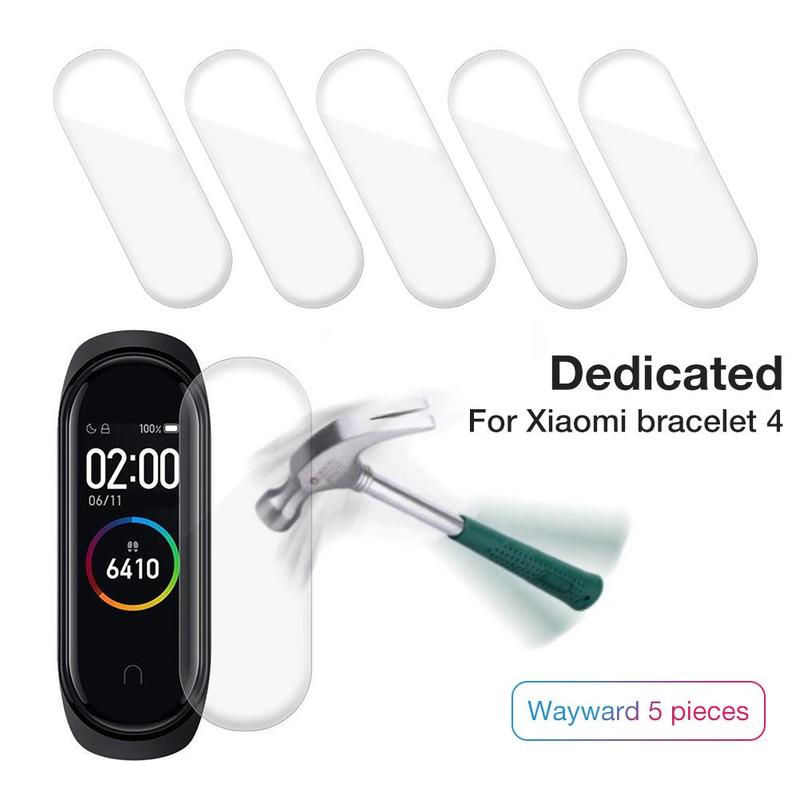 5Pcs Soft Screen Protector Cover For Xiaomi Mi Band 3 Watch Film Smart Wristband Bracelet Protective Film Not Tempered Glass