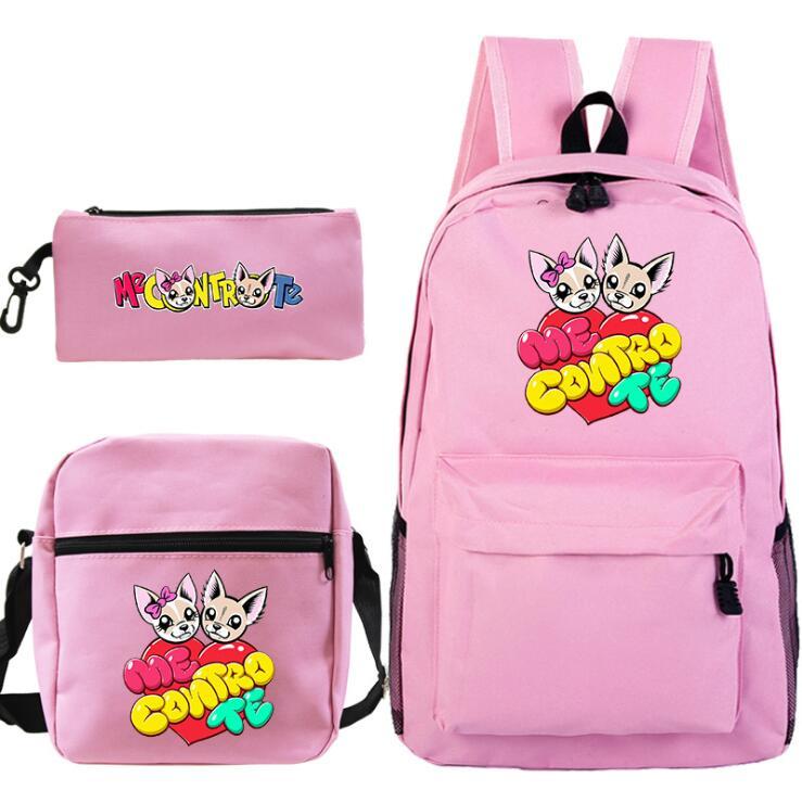 Me Contro Te Backpack Female Women School Bags Set For Girl Teenagers Satchel Female Animal Bagpack Kids Crossbody Bag 3pcs/sets
