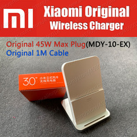 MDY 11 EG 45W Max Original Xiaomi Wireless Charger 30W With Holder Stand Mi9 Pro 5G 11 Pro MAX Note 10 Plus S10e