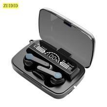 M19 tws sem fio bluetooth 5.1 fones de ouvido de controle de toque hands-free fones de ouvido com cancelamento de ruído esportes fone de ouvido à prova dheadset água com microfone
