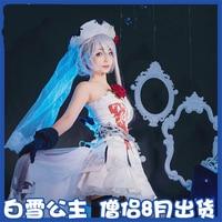 Anime SINoALICE Alice Cosplay Costume Snow White Gothic Monks Cos Lolita Halloween Party Dress H