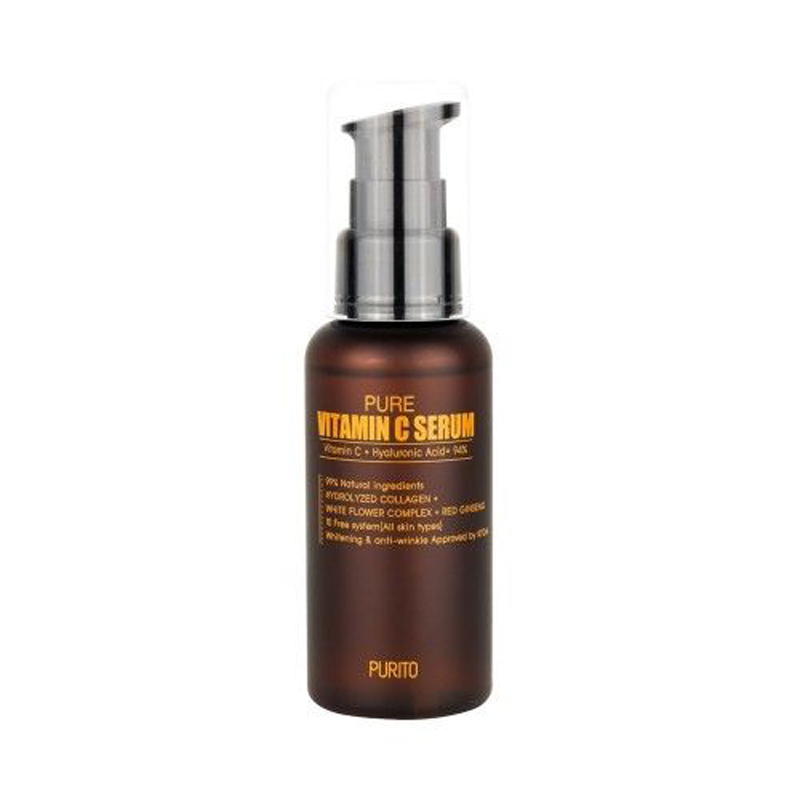 PURITO Pure Vitamin C Serum 60ml Face Cream Anti-wrinkle Serum Acne Pimples Treatment Black Head Remover Korean Cosmetics