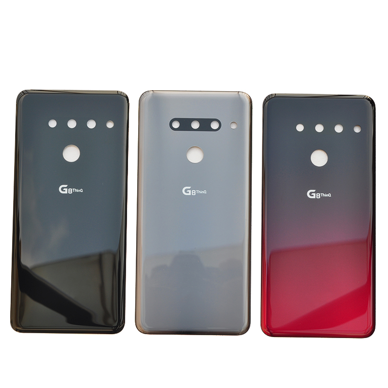 ZUCZUG New Original Glass Battery Cover For LG G8 ThinQ Rear Housing Back Case With Camera Lens+Logo