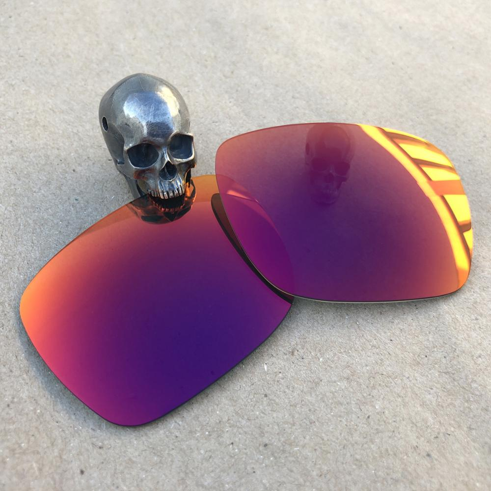 Firtox True Polarized Enhanced Replacement Lenses For-Oakley Fuel Cell OO9096 Sunglass (Lens Only)-Purple Red Mirror