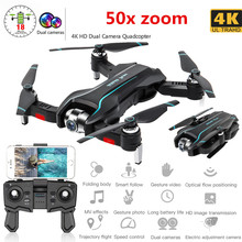 WIFI Drone 4K HD with Adjustable Wide Angle Camera FPV Real Time Aerial Video Foldable Quadrocopter Gesture Photo RC Dron Toys