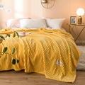 2019 одеяла сплошной желтый цвет мягкий теплый 300GSM квадратный фланелевый одеяло на кровать толщина плед