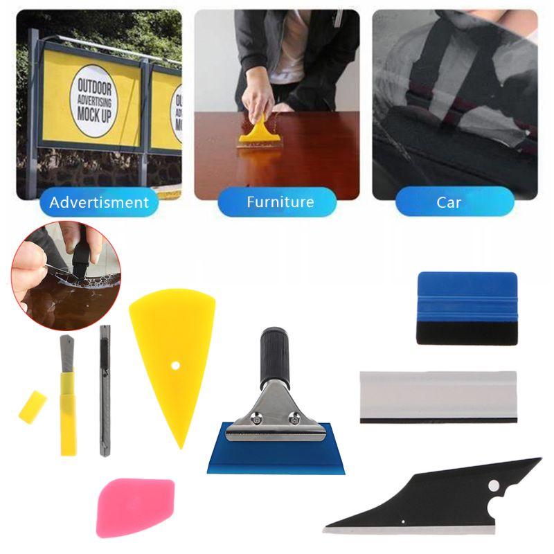 2020 New 8Pcs Car Window Tint Wrapping Vinyl Tools Squeegee Scraper Applicator Kits Set