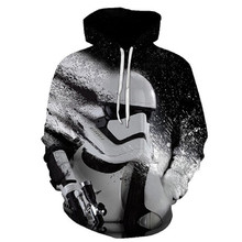 3D Star Wars Fall Winter Hoodie Digital Print Mens Sweatshirt Casual Men and Women Sportswear Fashion Tops