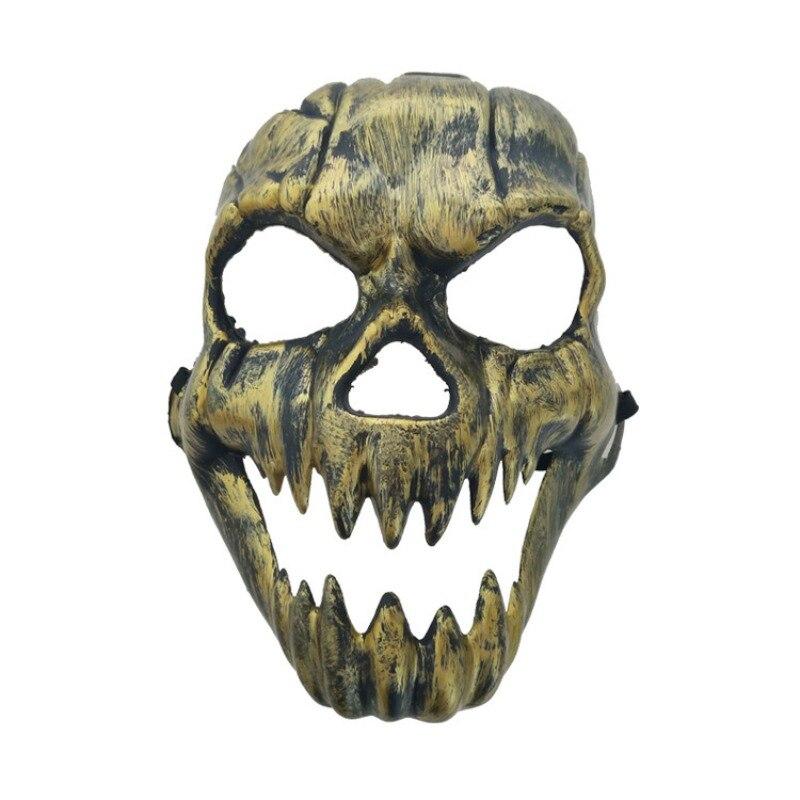 Хэллоуин металлический пластиковый череп маска Золото Серебро высокое качество полное лицо череп маски предметы для вечеринок бутафория д...