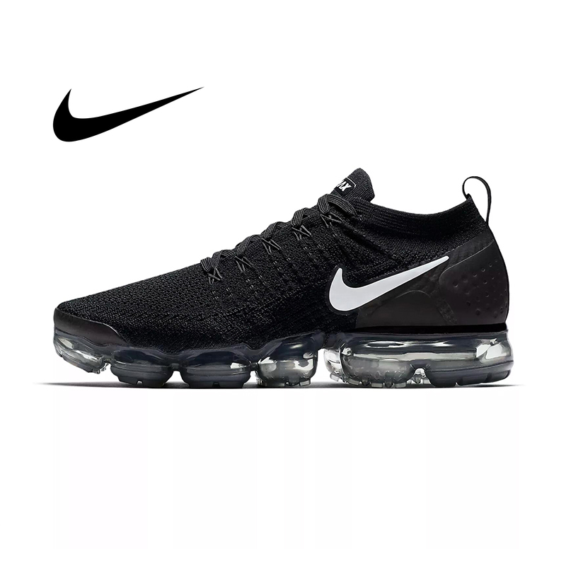 Original Authentic Nike Air Vapormax Flyknit 2.0 Men Sneakers Lightweight Running Shoes Mesh Breathable Shock Absorption Fitness