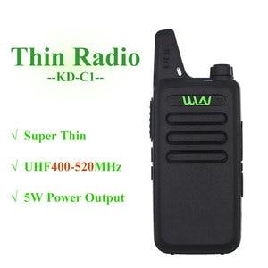 Image 2 - 4PCS WLN מיני ווקי טוקי KD C1 UHF 400 470Mhz כף יד שתי דרך רדיו תחנת תקשורת חובבי משדר רדיו