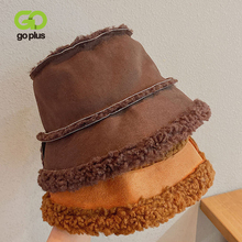 Bucket-Hats Korean-Style GOPLUS Black Soft White Winter Womans Warm Chapeau Zimowa Czapka
