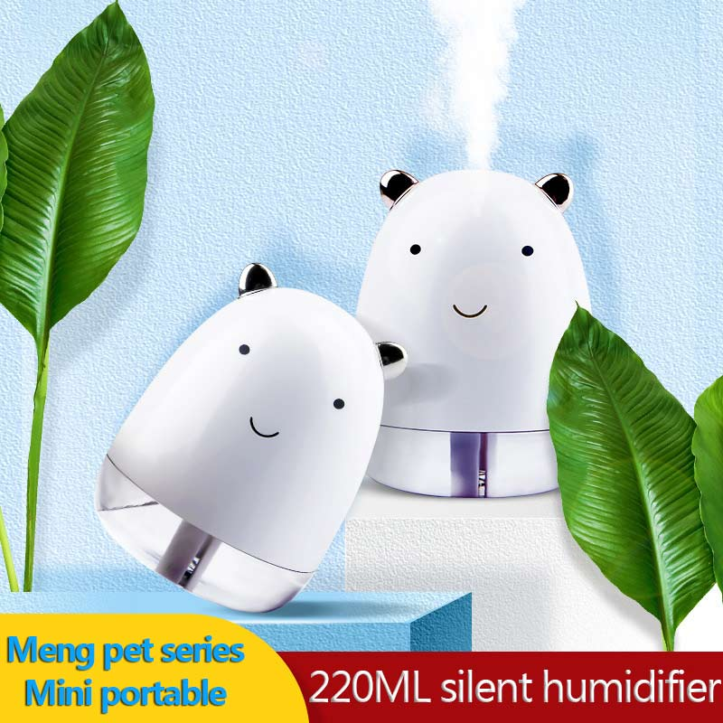 New Cute Pet Humidifier Office Desktop Creative Gift Mini Car Air Diffusion Purifier