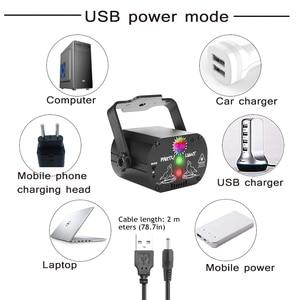 Image 5 - 미니 RGB 디스코 조명 효과 LED 무대 레이저 프로젝터 레드 블루 그린 램프 USB 충전식 웨딩 생일 파티 라이트