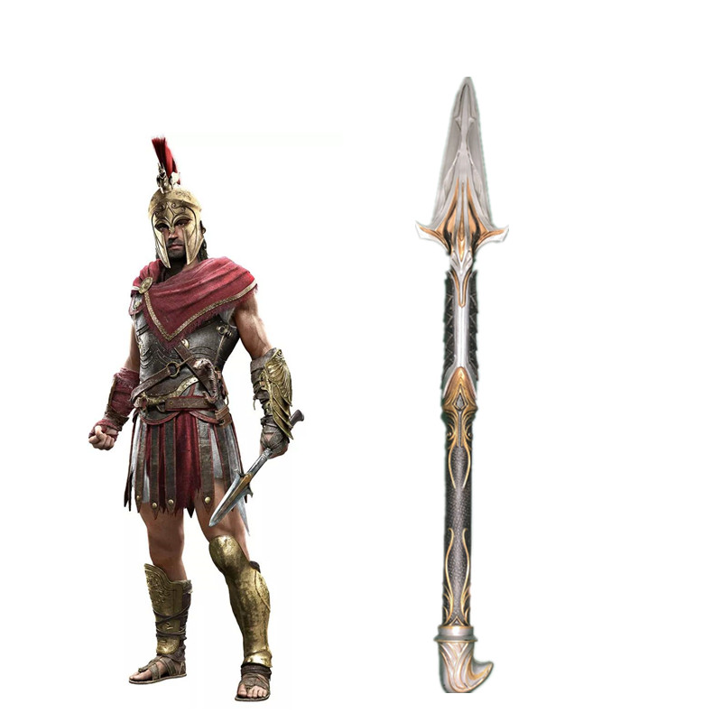 Toys Assassin's Creed Odyssey Broken Spear Of Leonidas Replica Hidden Blade Sleeve Sword Edward For Kids Cosplay Toy Gift