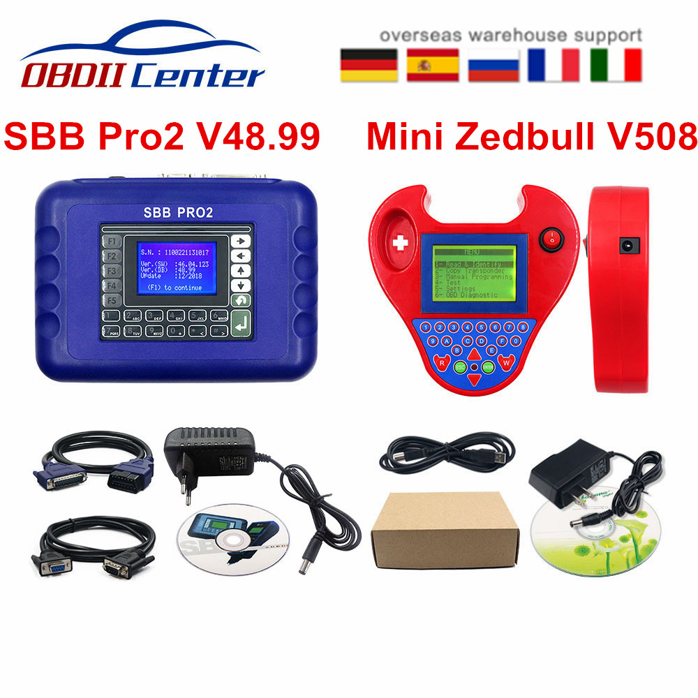 Smart Mini Zed Bull SBB V48.99 Key Programmer SBB Pro Zed-bull Mini Zedbull V508 Auto Key Transponder Scanner No Tokens Limits