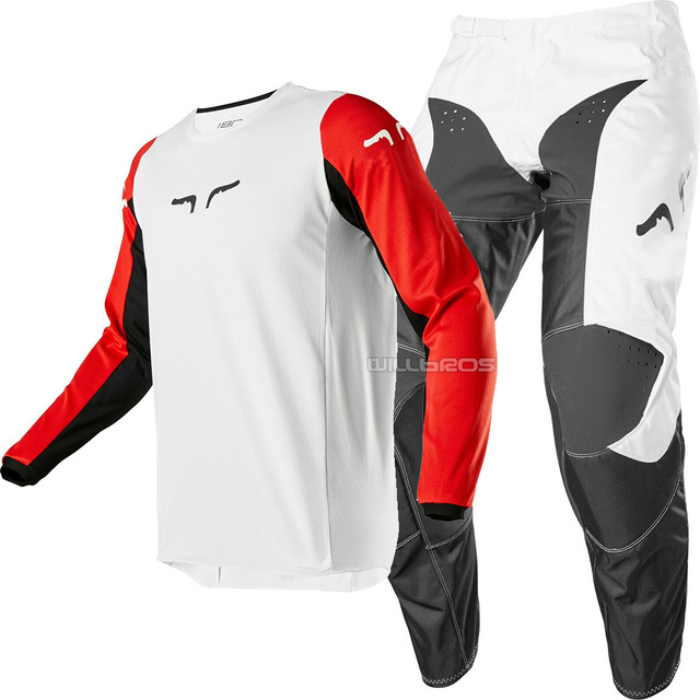 2020 Race 180 Prix MX Off Road Jersey Pant Motocross ATV Men Combo White Black Red Downhill Riding Adult Gear Set