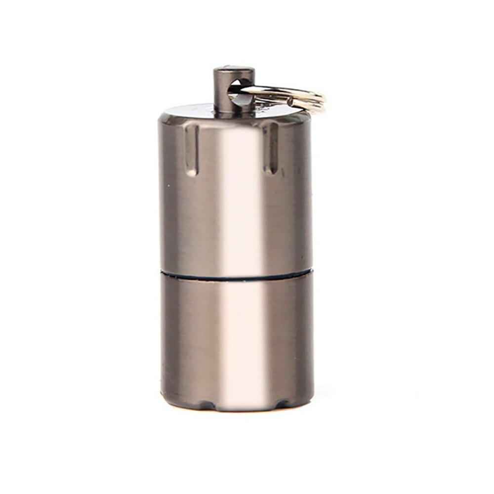 Mini Compact Kerosene petrol Lighter Fire Starter Capsule Kerosene Silver