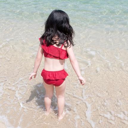 South Korea KID'S Swimwear GIRL'S Girls Baby Bikini Kids Split Type Swimwear 1-3 Years Old Hat Tour Bathing Suit