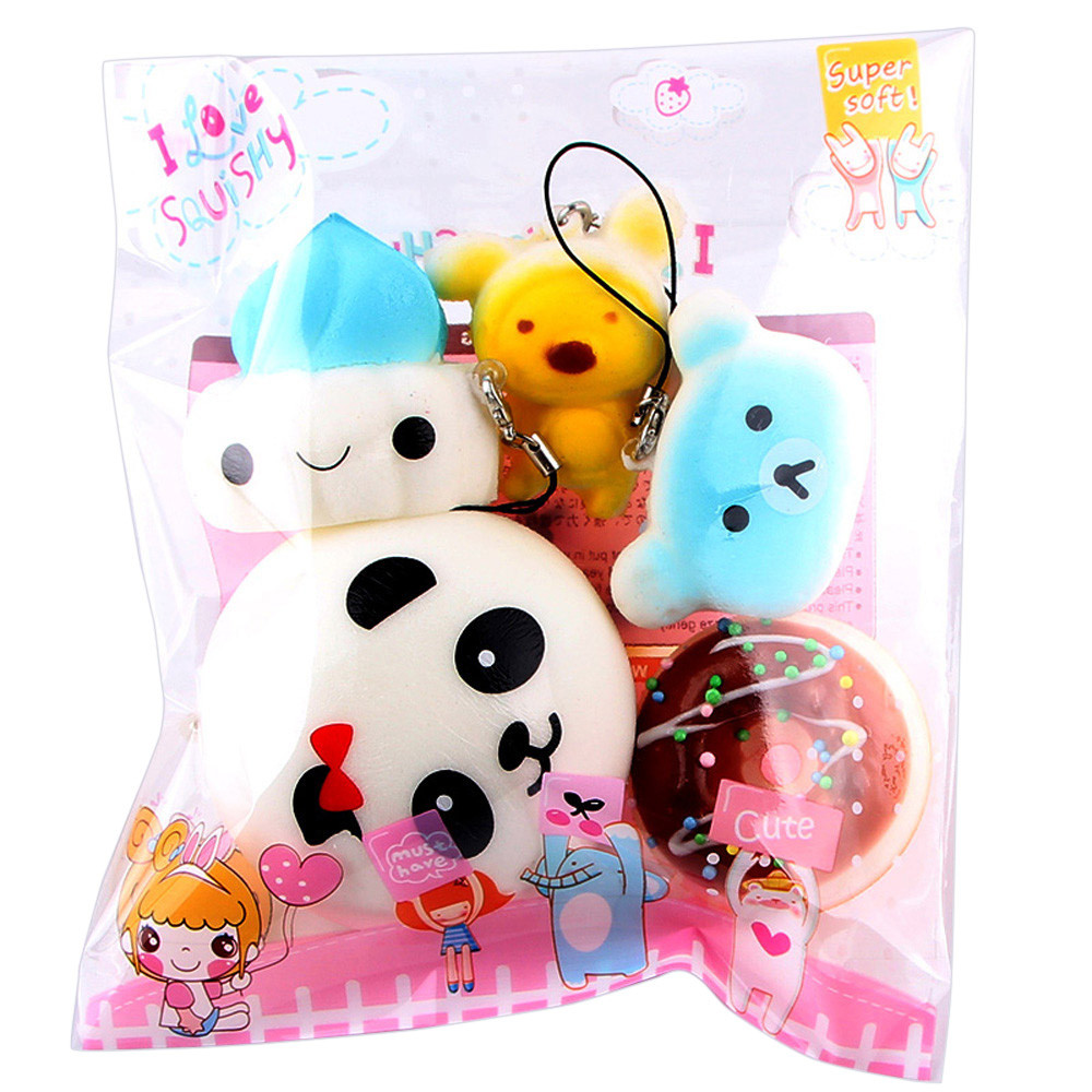 Kids Bread Toys Key Scented Charm Slow Rising Squishy Squeeze Cadeau Femme Squishies Stress Reliever Mini Soft Toys For Children
