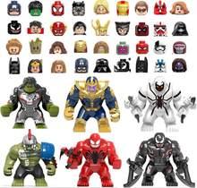 Blocos Super Heróis IronMan Deadpool Batman Capitão Thanos Grande Blocos de Construção Figuras crianças Brinquedos de presente