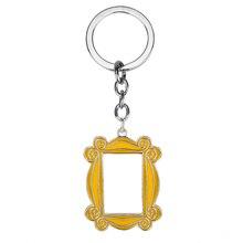 TV Show Friends Gold Photo Frame Logo Keychain Car Pendant Keyring High Quality Enamel For Best Friend Key Chain Accessories