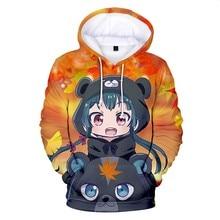 Jackets Anime Kuma Kuma Kuma Bear Yuna  hoodie Cosplay Hooded Men Women Coat Sweatshirts