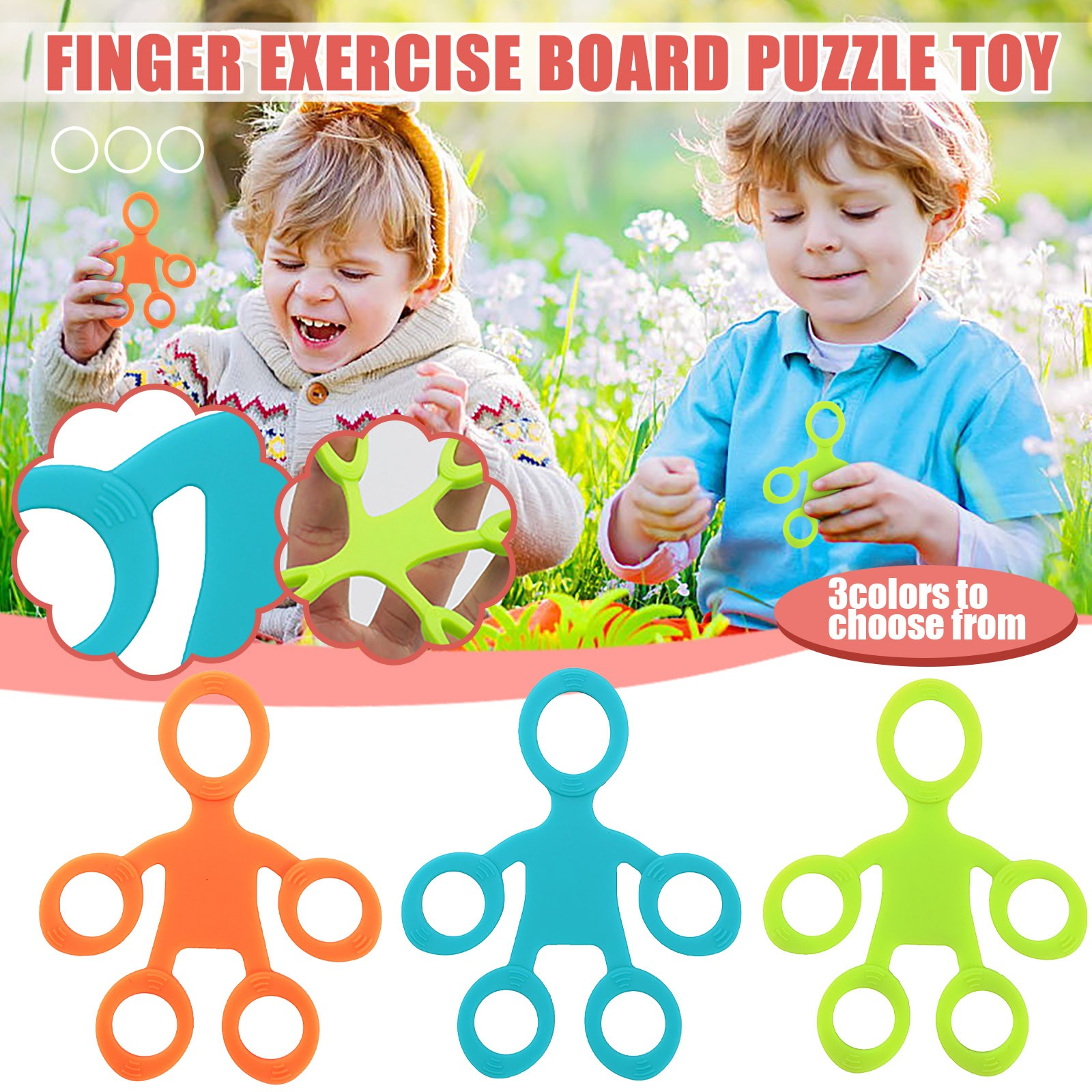 Toys Hand-Ring Finger-Puller Fidget Gifts Antistress Children Silica-Gel Adult for Squish img4