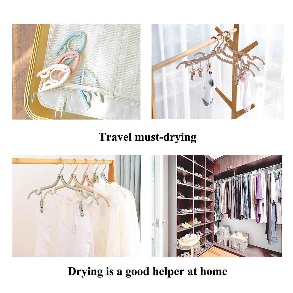 Гибкая портативная складная вешалка для одежды ярких цветов противоскользящая универсальная многофункциональная волшебная стойка для дома или путешествий