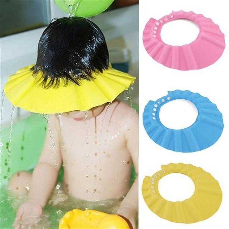 Adjustable Shower Bath Visor Shield Wash Hair Cap Shampoo Resistance Protect Ear Eye Hat Baby Children Kids Infant