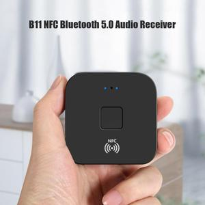 Image 4 - B11 NFC Newest  Bluetooth 5.0 Music Receiver Wireless Audio Hands free Call Adapter for iPhone for Android devices