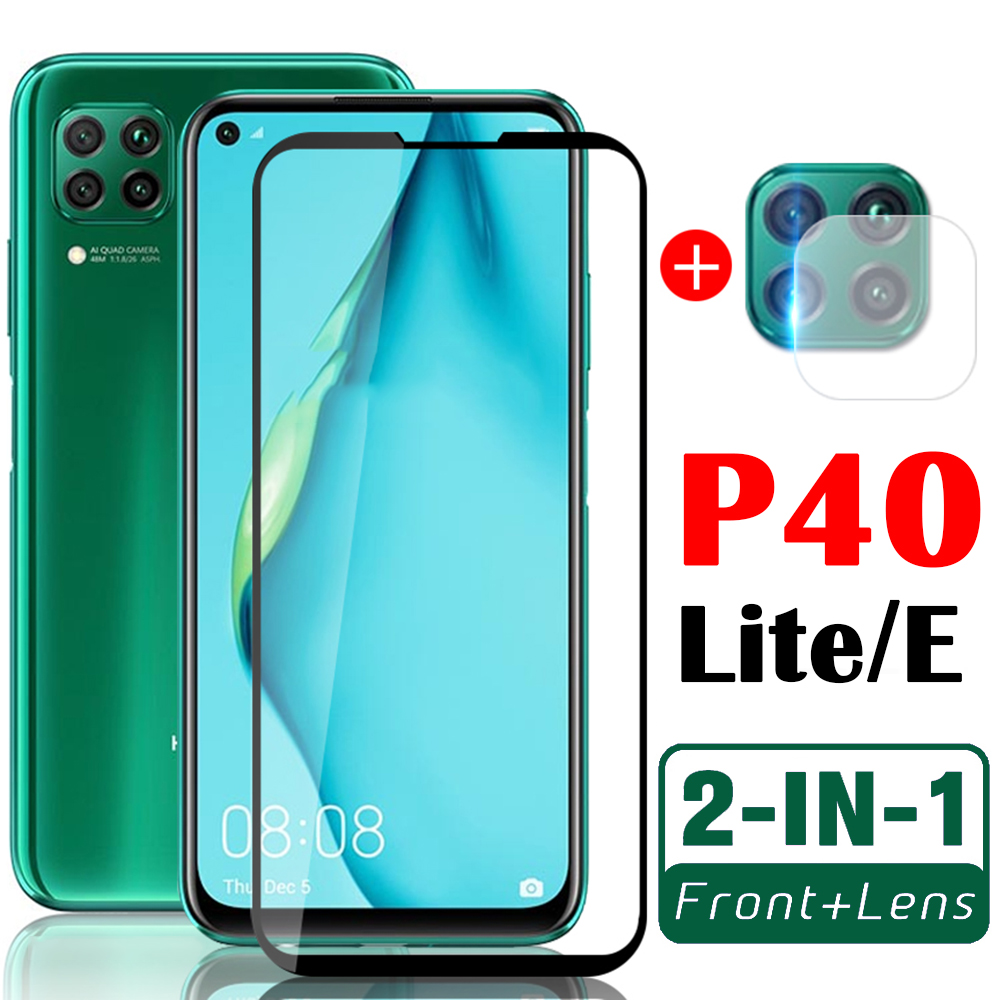 Case For Huawei P40 Lite E Phone Cases With Camera Lens Hauwei P 40 Light P40lite Protective Film 2in1 40P P40litecase Fundas