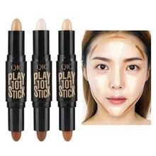Women Highlighter  Face Concealer Contouring  Bronzers Highlighters Pen Cosmetic 3D Makeup Corrector Contour Stick  highlighter недорого