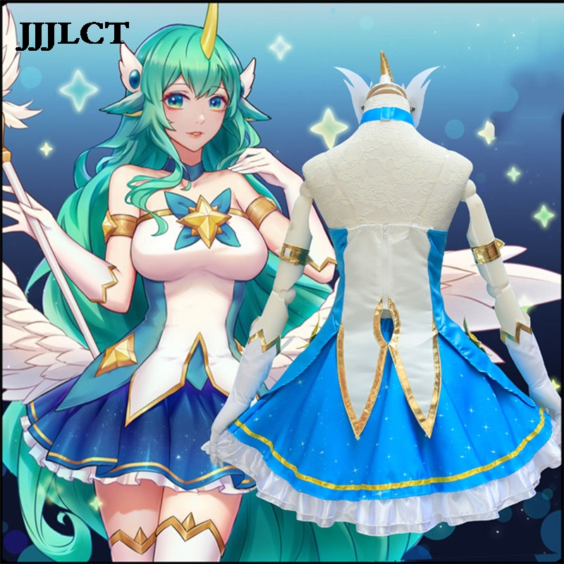 Hot LOL League of Legends Lux Star Guardian Skins Lolita Dress Cosplay Costume
