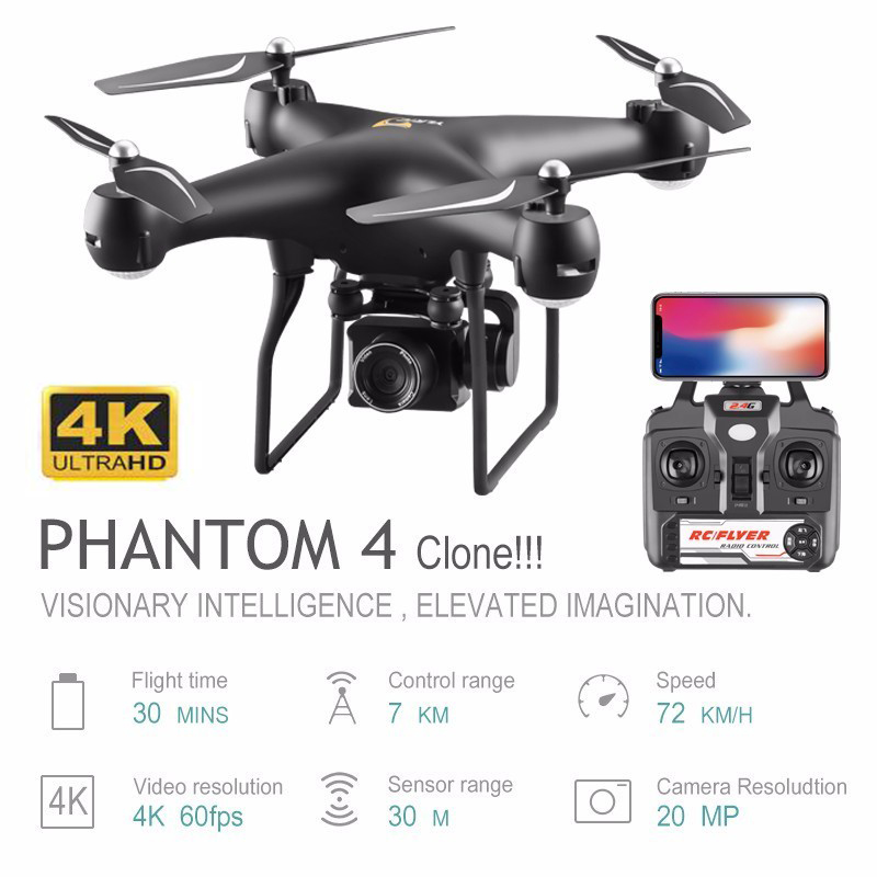 Professional Drone with 4K Rotating ESC Camera HD WiFi FPV Altitude Hold Wide Angle RC Quadcopter Helicopter S32T Toy VS XY4 E58 image