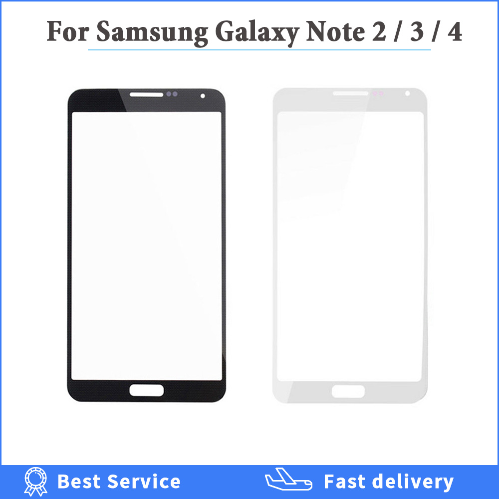 High Quality Outer Front Glass Lens For Samsung Galaxy Note 2 3 4 5 N7100 N9200 N9100 <font><b>N9000</b></font> <font><b>LCD</b></font> Display Screen Replacement Parts image