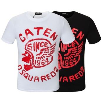 Letnie koszulki męski z krótkim rękawem drukowane koszulki koszulki w stylu Casual koszulki męskie bawełniane Fit O-Neck białe koszulki wysokiej jakości tanie i dobre opinie CLASSDIM Daily SHORT CN (pochodzenie) COTTON summer Na co dzień Z okrągłym kołnierzykiem tops Z KRÓTKIM RĘKAWEM Sukno