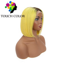 Straight Short Bob Wigs Ombre Colored Lace Front Wig Remy Human Hair 13x4 Lace Wig Pre Plucked Natural Hairline With Baby Hair стоимость