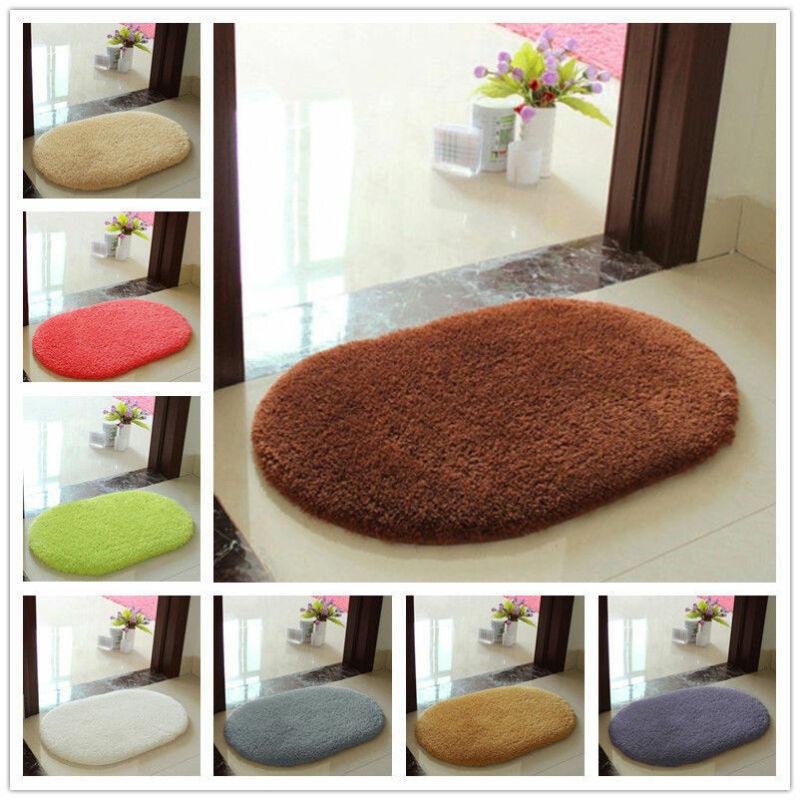 Ellipse Soft Faux Sheepskin Fur Chair Cushion Area Rugs For Bedroom Floor Shaggy Silky Plush Carpet White Bedside Mat