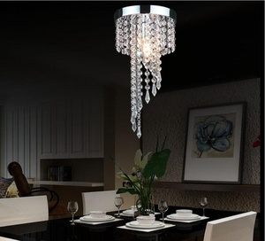 Image 2 - Modern LED Crystal Chandeliers E27 Bulb Led Lamps Living Room Ceiling Chandelier Indoor Lighting Led Lustre Lamp Ceiling Fixture