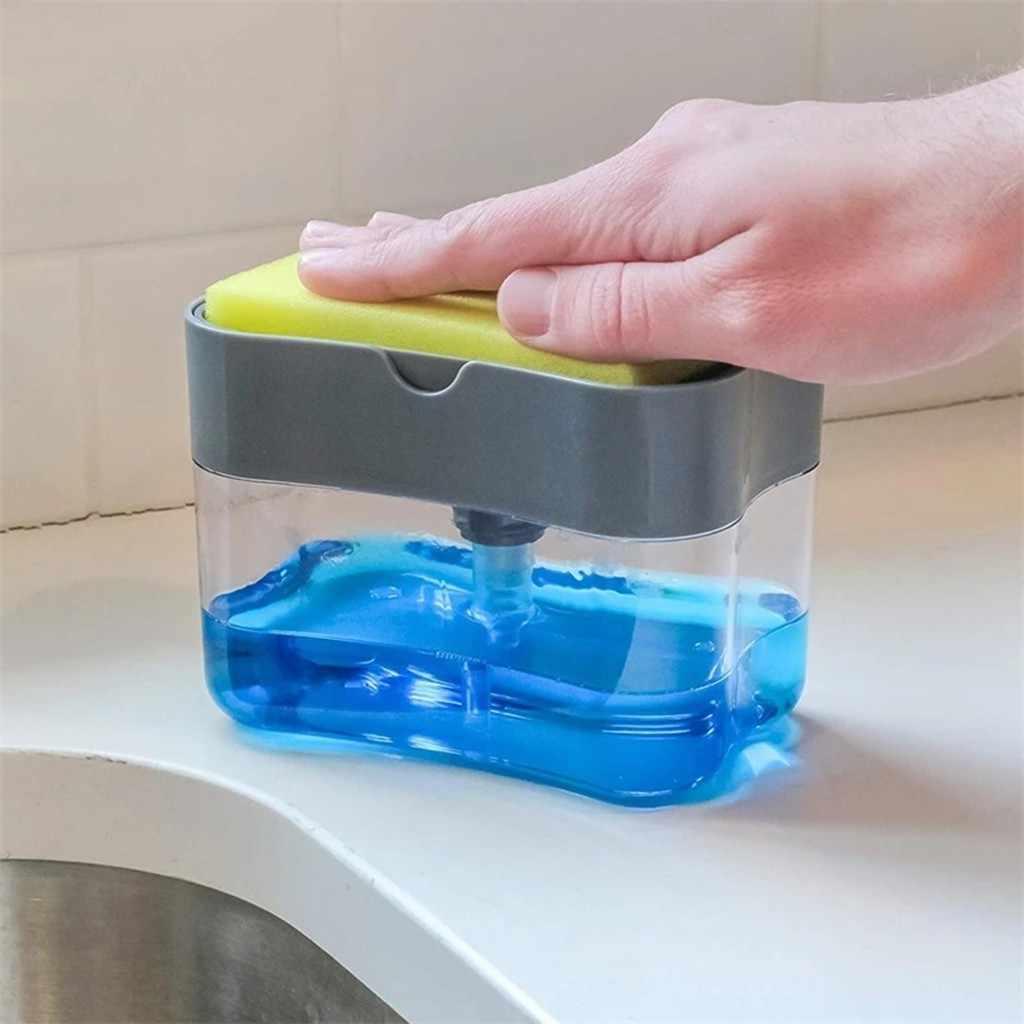 Soap Dispenser Soap Pump Sponge Caddy New Creative Kitchen 2 In 1 Manual Press Liquid Soap Dispenser With Washing Sponge Liquid Soap Dispensers Aliexpress