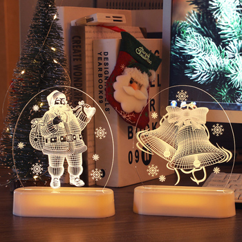 Luces para noche de Navidad decorativas para el hogar, lámpara de mesita...
