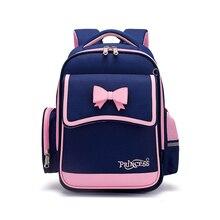 Backpack  for Elementary  School Girl Waterproof Oxford Cloth Pink Sac Enfant School Bags Kids Backpack  Girls Cute Bow Kids Bag