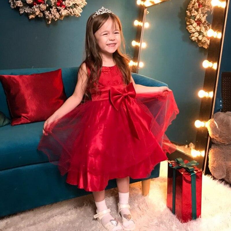 Hermosa princesa flor niña vestido tutú de verano boda cumpleaños vestido de niña traje de Año Nuevo