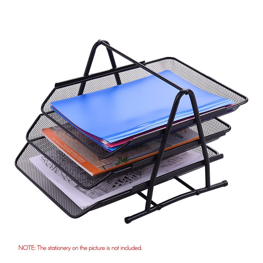 US $377.377 377% OFF37 Tier Metal Mesh File Document Letter Paper Tray Sorter  Collection Office Desktop Organizer Holder Shelf  - AliExpress