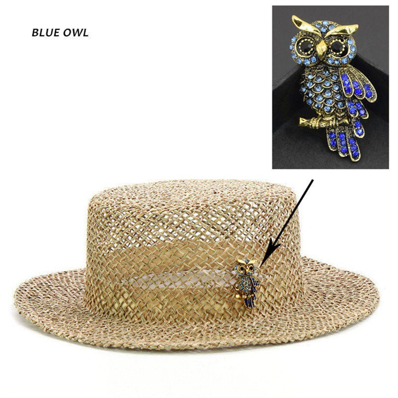 2020 New Design Flamingo&Owl Straw Sun Hats For Women Fashion Breathable Summer Beach Hat With Animal Casual Dress Hat Wholesale
