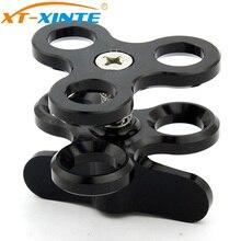 XT XINTE alüminyum kamera braketi üçlü topu kelepçe dalış el feneri kelebek klip sualtı fotoğrafçılığı montaj adaptörü