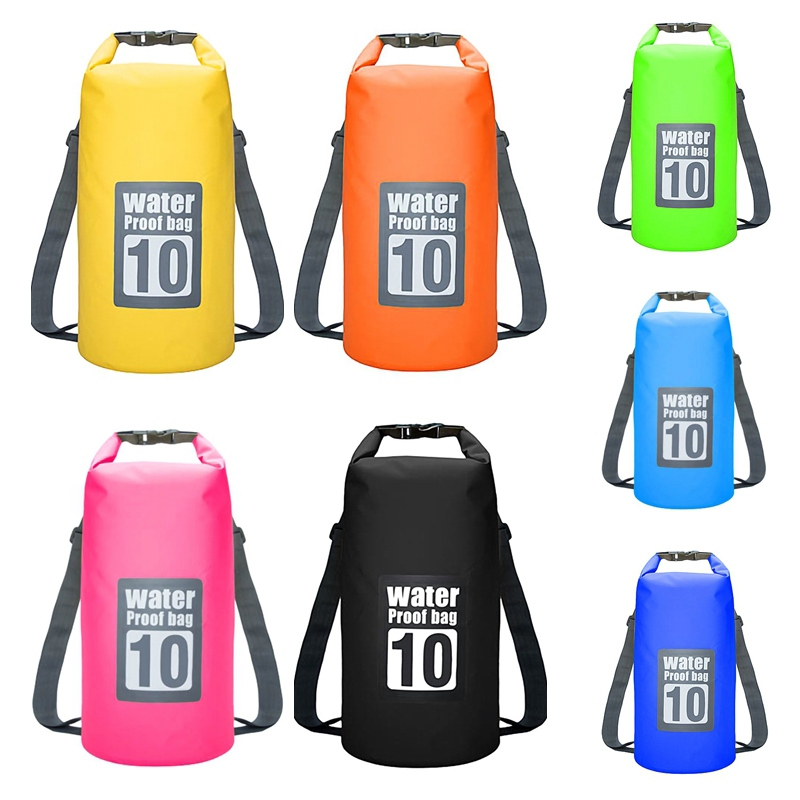 10L Floating Waterproof Dry Bag Pack Roll Top Sack Swimming Rafting Kayaking Drifting Backpack For Camping Hiking Beach Fishing