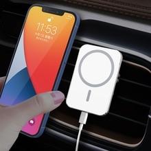 15W 빠른 충전 Qi 마그네틱 무선 충전기 아이폰 12 시리즈 자동차 공기 콘센트 환기 마운트 클램프 홀더 X16 Magsafe